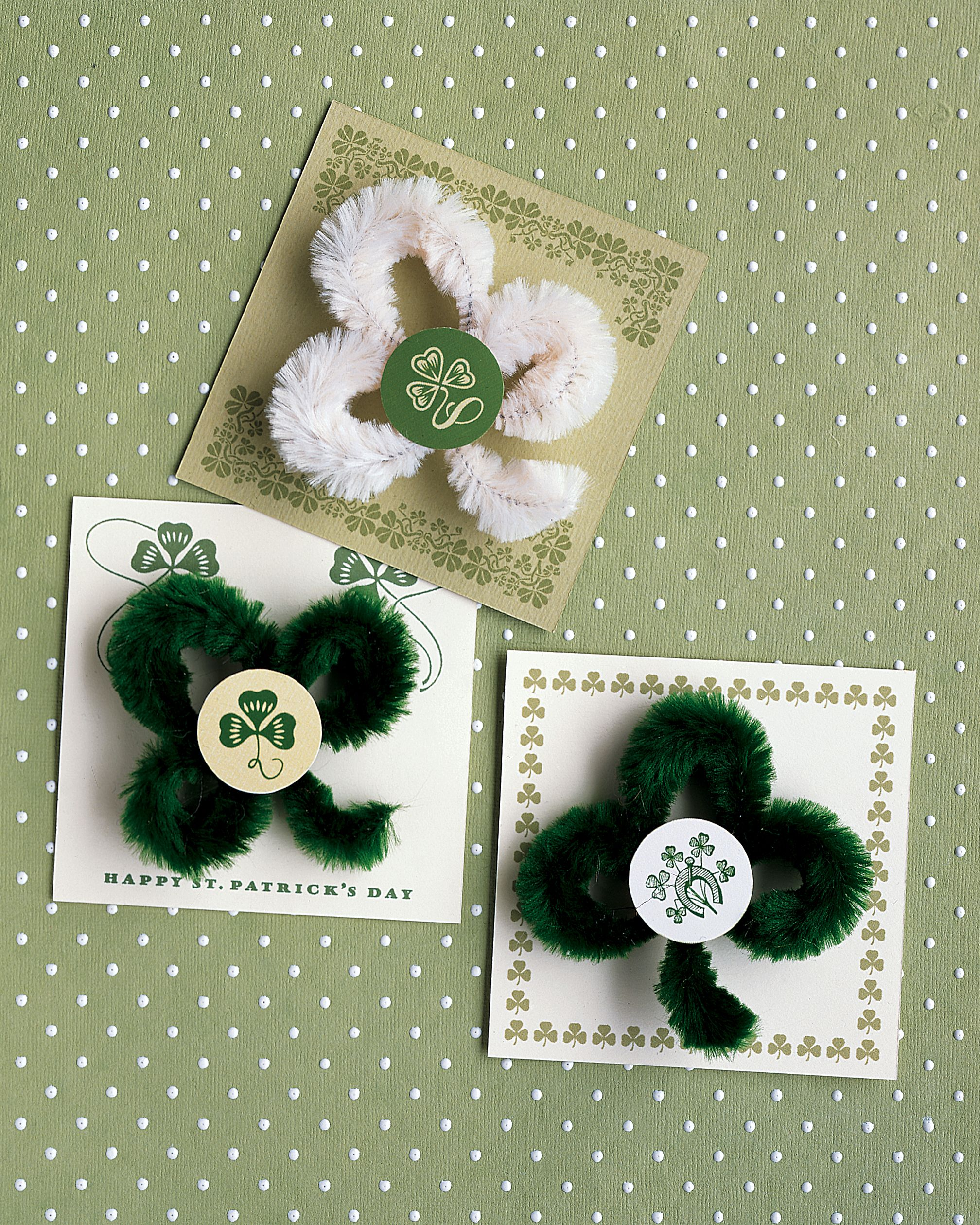 St. Patrick's Day Crafts and Decorations | Martha Stewart - Celebrate St. Patrick's Day with our favorite shamrock-inspired crafts, great for all the little leprechauns in your life. #stpatrick #goodluck #spring