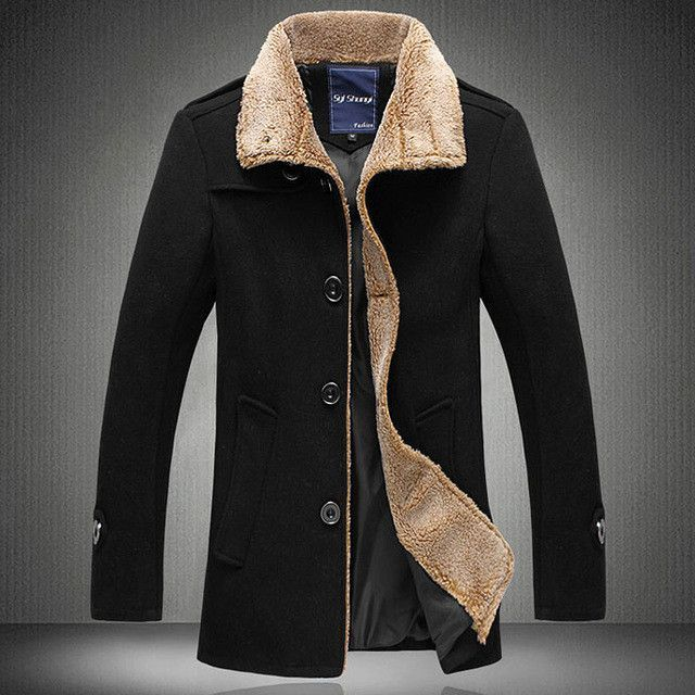 New men's jacket high quality wool coats thickening winter jackets ...