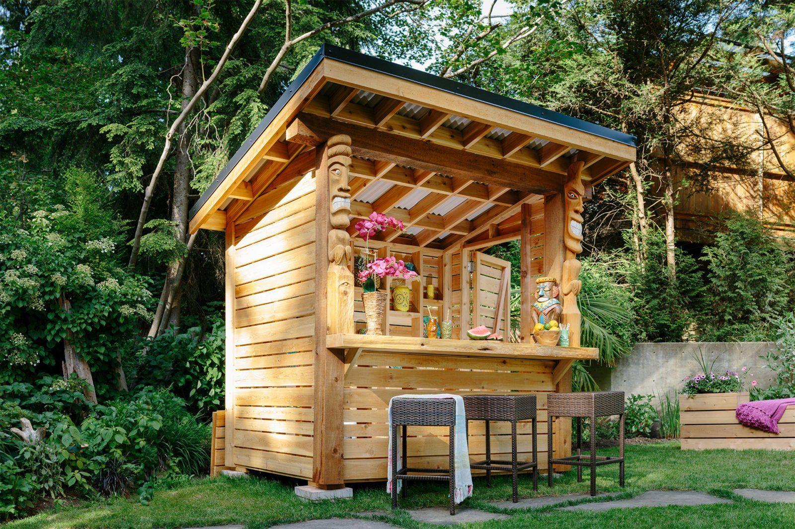 Free tiki bar project plans real cedar outdoor tiki