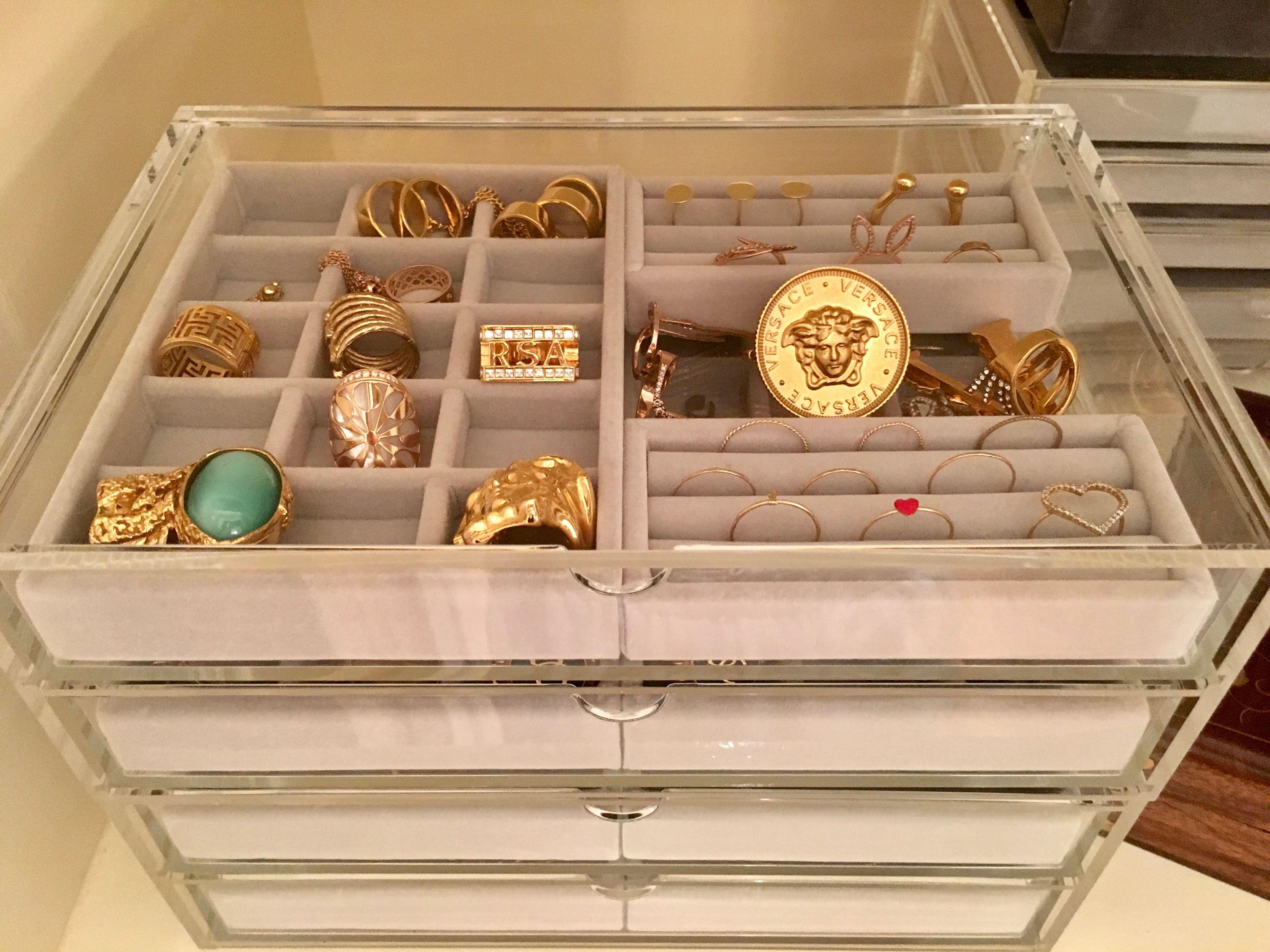 Organized Jewelry Drawers Organizational Design Jewelry Organizer Drawer Jewelry Drawer