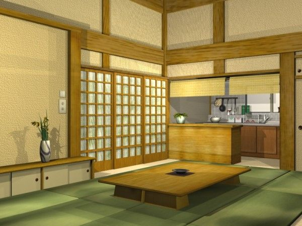 Japanese Kitchen Design With Combination Of Traditional And Modern