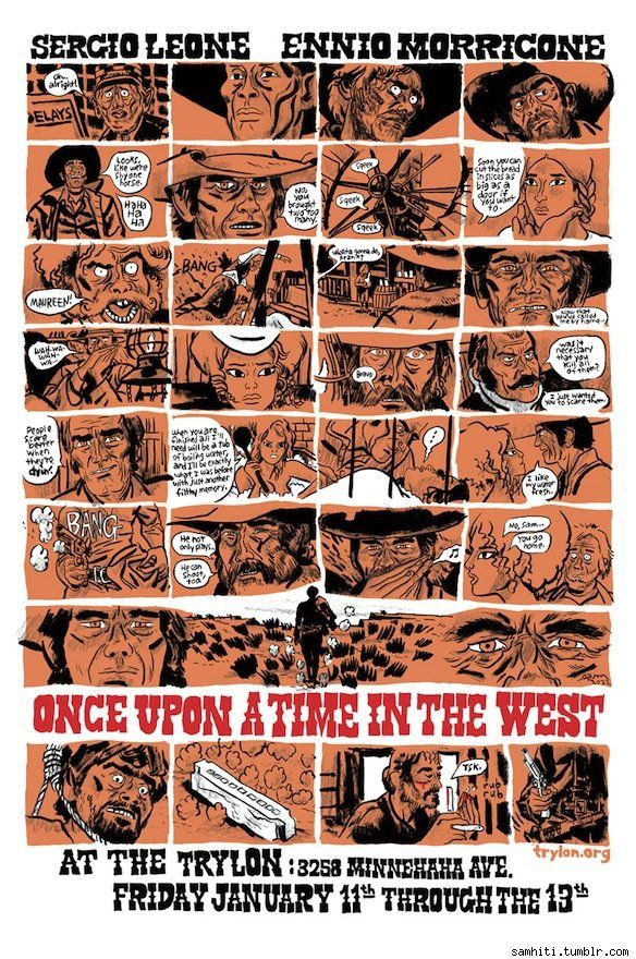 Sam Hiti Illustrates Lonely Astronauts And All Of 'Once Upon A Time In The West' On A Single Page [Art] - ComicsAlliance | Comic book culture, news, humor, commentary, and reviews