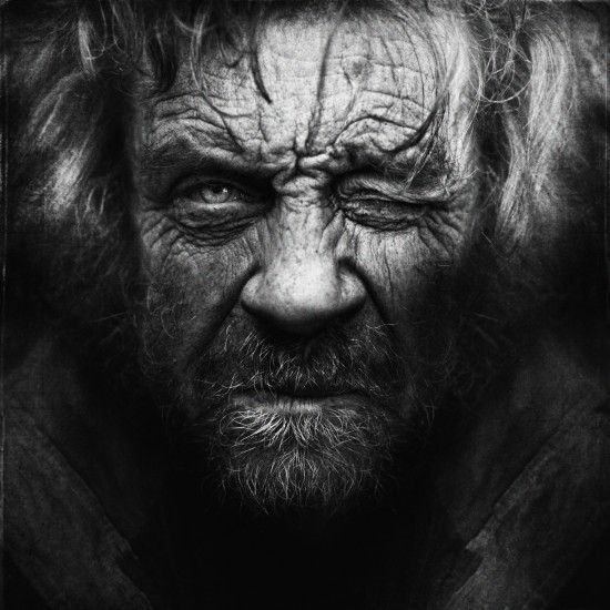 Homeless black and white portraits lee jeffries 10
