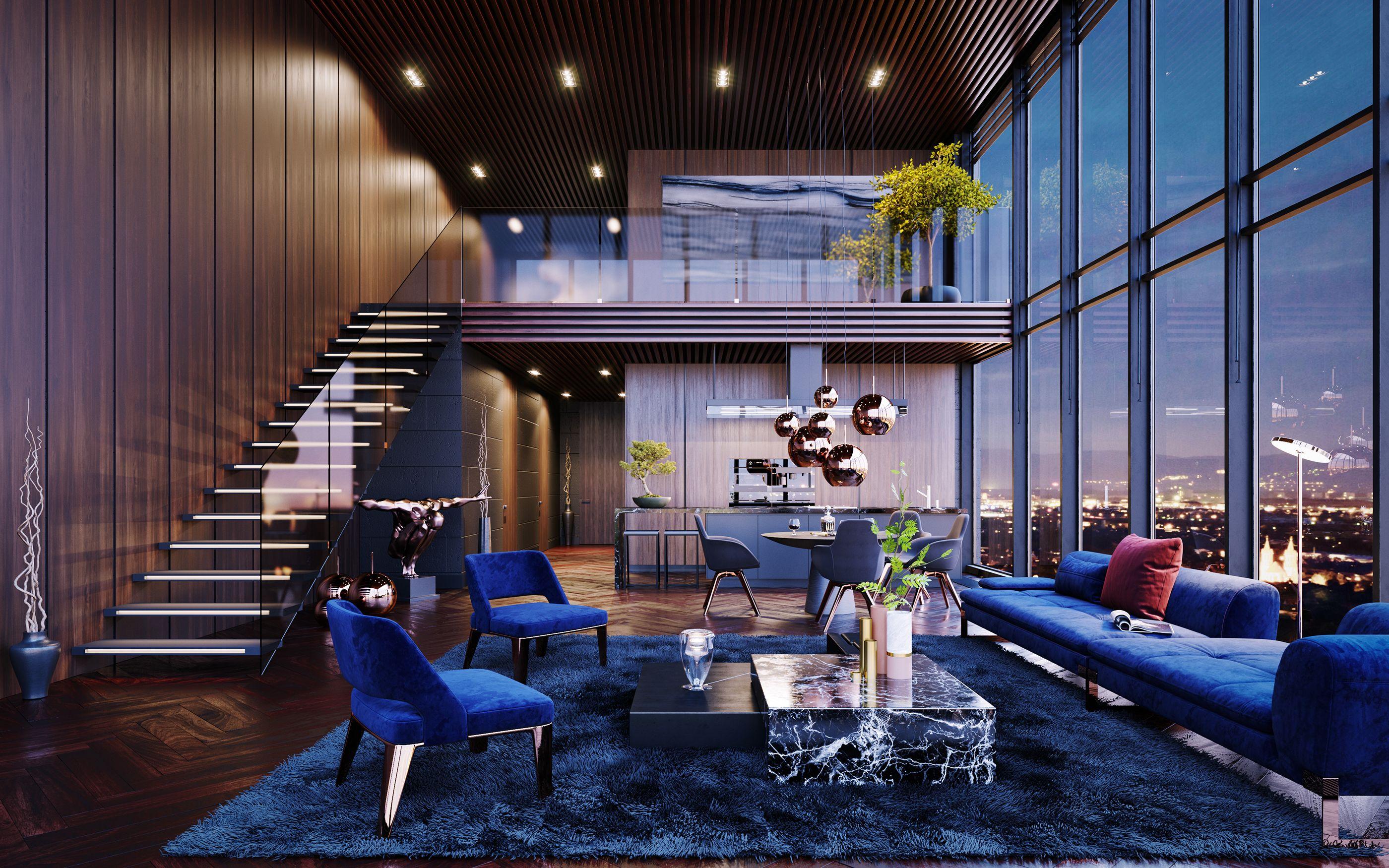 Luxury Penthouse in Los Angeles, USA CGI on Behance