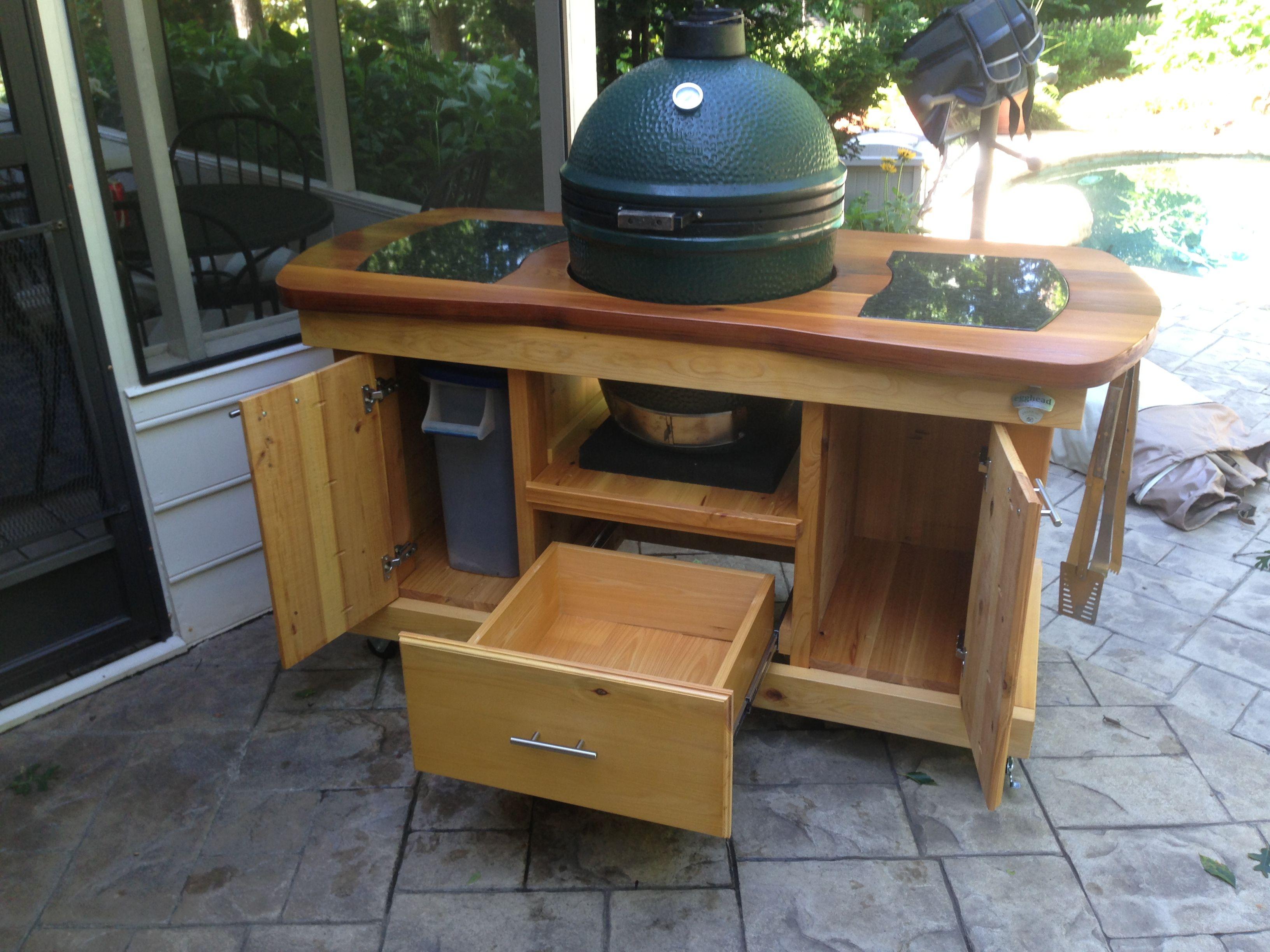 Big Green Egg Table Big Green Egg Table Plans Big Green Egg Table Grill Table