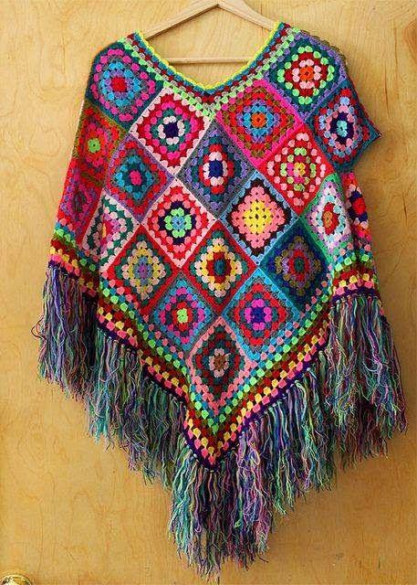 louca por linhas - crochet e patchwork: Todas as cores do arco-íris ...