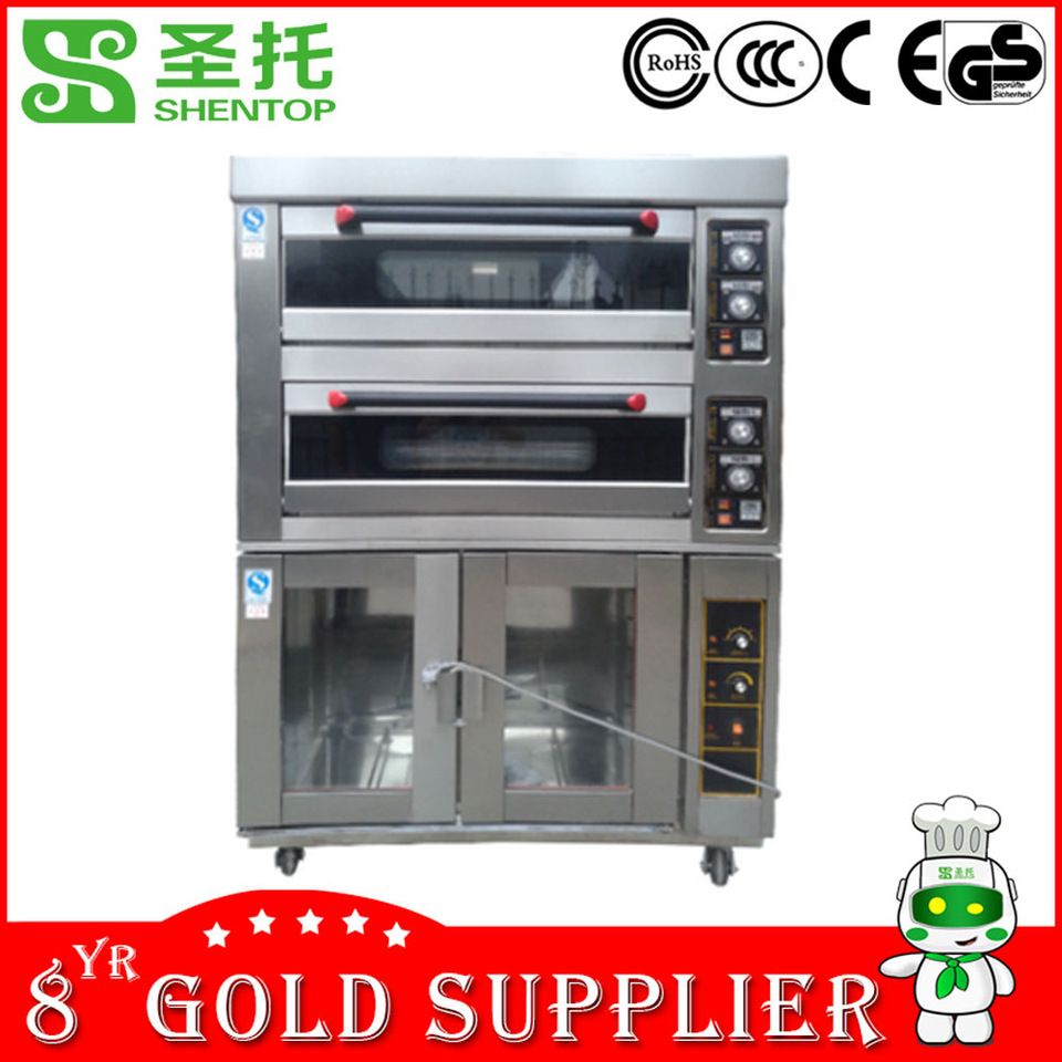 Shentop Stpl J12f24 Bread Oven With Proofer Bakery Equipment In China Bread Fermentation Machine Electrical 4 Deck Oven