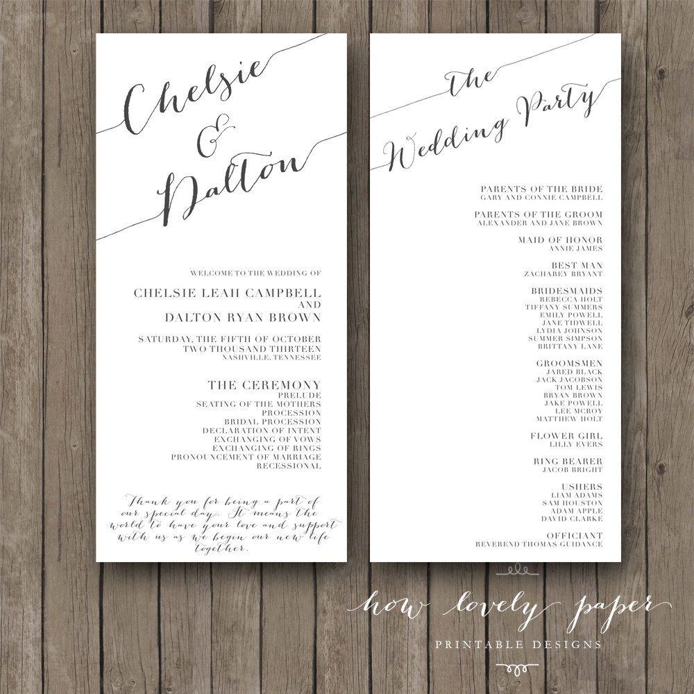 Creative Wedding Programs