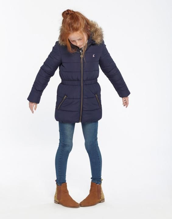Joules Uk Belmont Oldergirls Padded Coat 3 12yr French Navy My