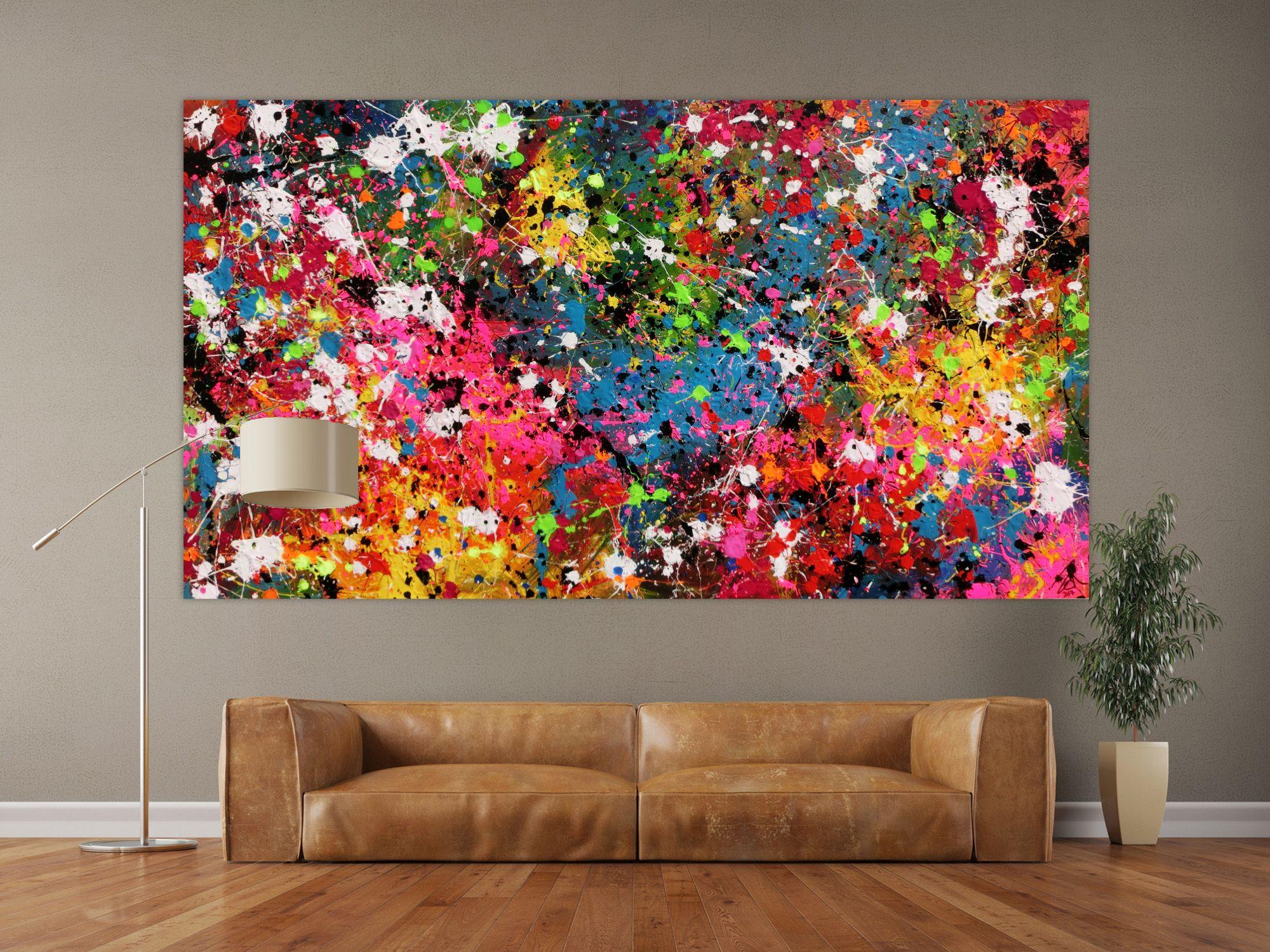 pin von alex zerr auf abstract art abstrakt acrylbilder actionpainting leinwand canvas große bild