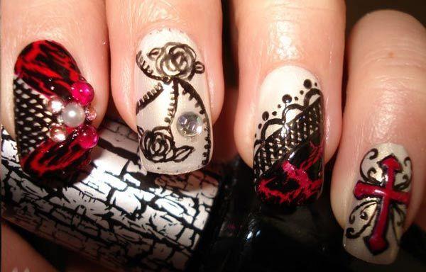 Diseños De Uñas Góticas Uñas Góticas Uñas Y Diseños De Uñas