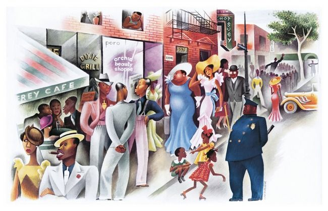 Sunday In Harlem By Miguel Covarrubias Art Harlem Illustrator Artists