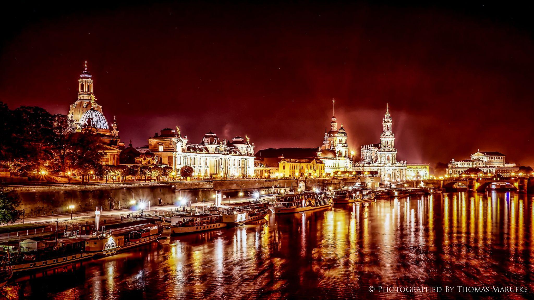 Schön Skyline Dresden Beste Wahl At Night I By Thomas Marufke On