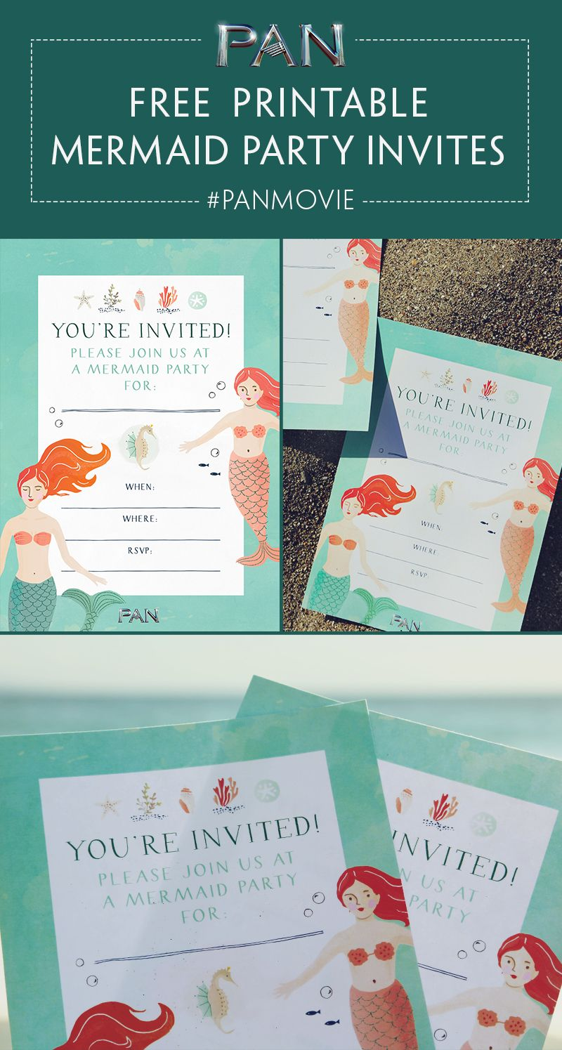 design birthday party invitations free%0A Throw your own mermaid party using these free printable invitations