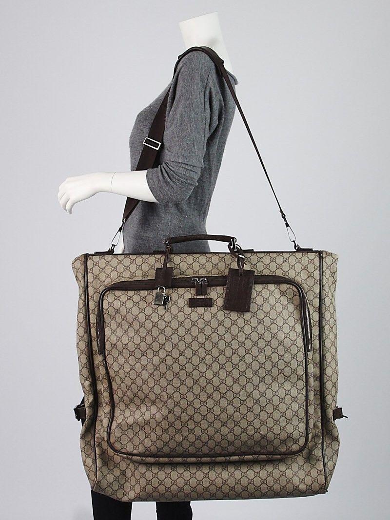 bb2b1b40c098 Gucci Beige/Ebony GG Coated Canvas Large Garment Bag | ACCESSORIES ...