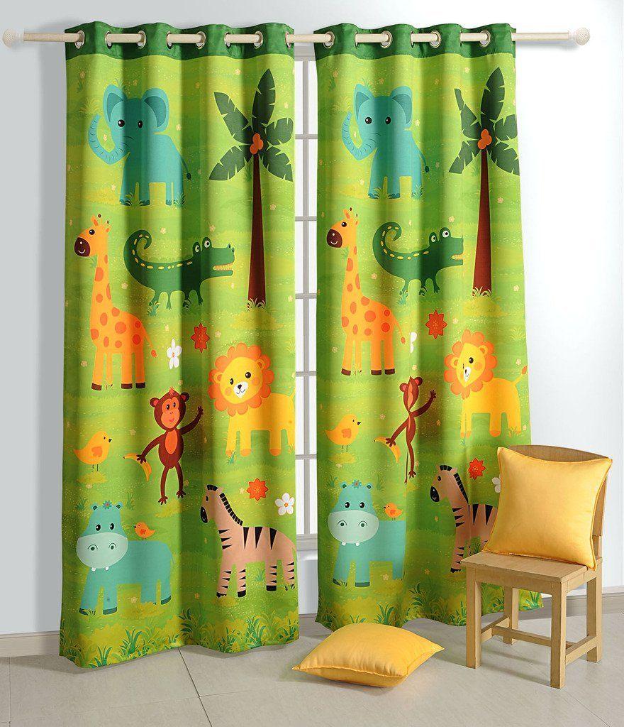 Dschungel Vorhang für das Kinderzimmer | Dschungel | Safari ...
