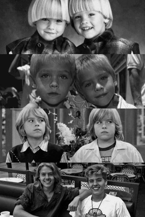 Dylan and Cole Sprouse are my tweedle dee and tweedle dum for my Alice in Wonderland because they're like two peas in a pod. One of them corrects the other at times but at other times, they both get confused together. I love them! I chose this picture because whatever age they were would be perfect.