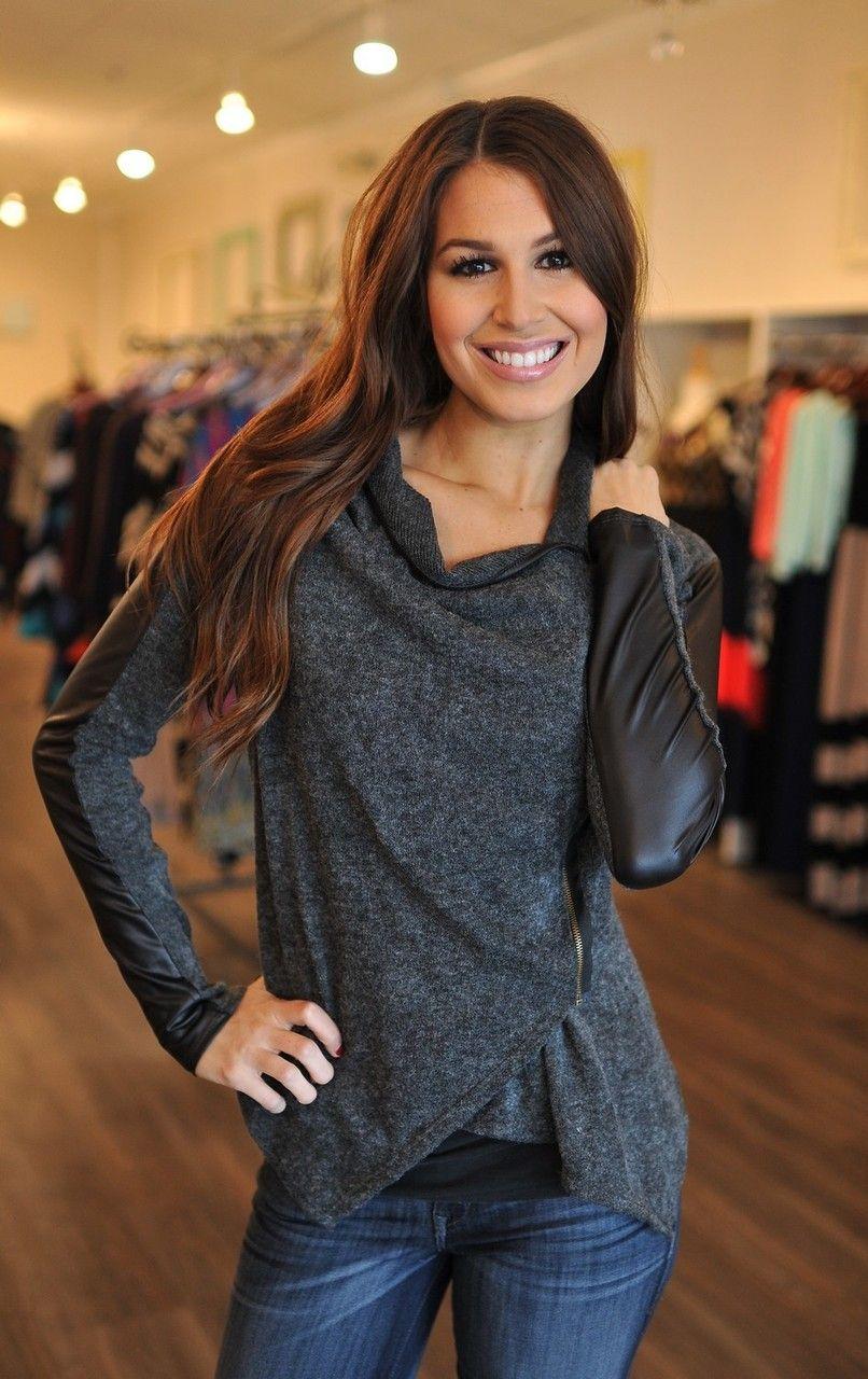 Dottie Couture Boutique - Side Zip Jacket- Charcoal, $42.00 (http://www.dottiecouture.com/side-zip-jacket-charcoal/)