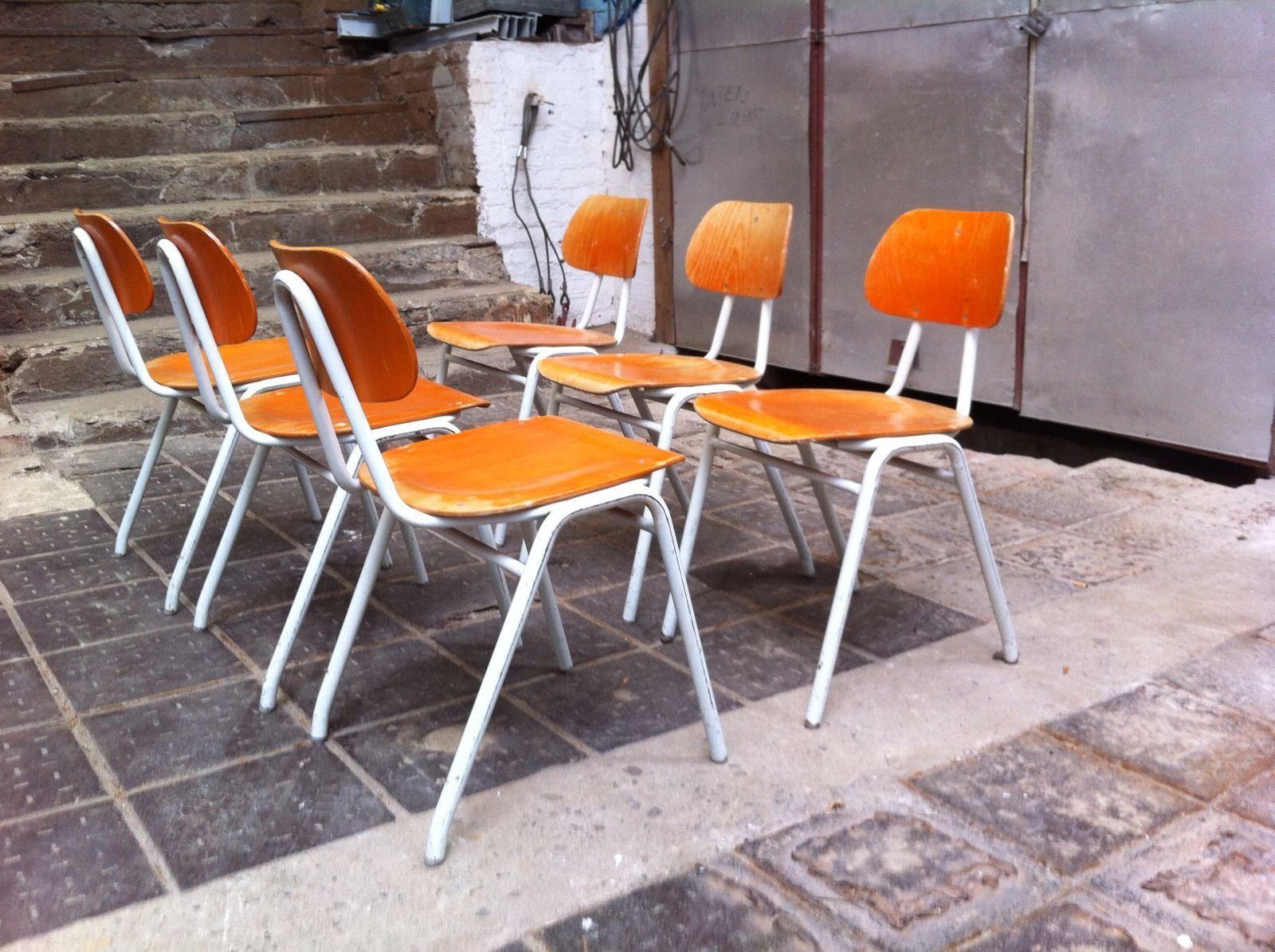 Antiquitäten & Kunst Mobiliar & Interieur Einfach Industrial Stahlrohrstühle Stuhl Stapelstuhl Loft Bauhaus