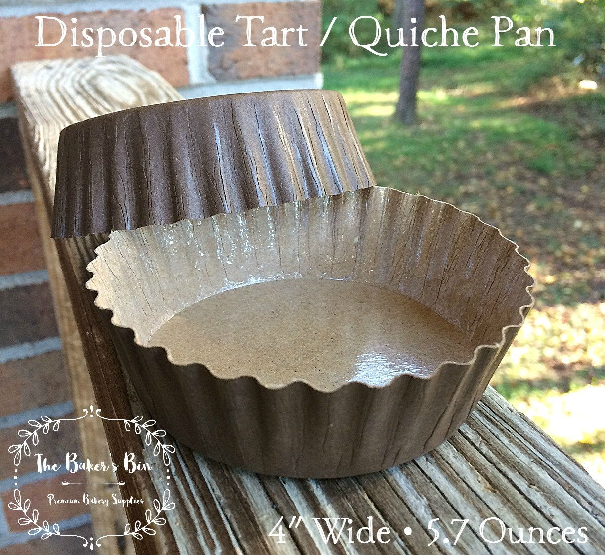 5 Each 4 Wide Corrugated Kraft Baking Cup With Pet Coating 1