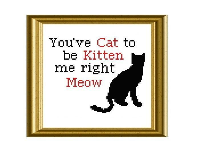 Funny Cat Quote ... by Beki710 | Embroidery Pattern - Looking for your next project? You're going to love Funny Cat Quote Cross Stitch by designer Beki710. - via @Craftsy