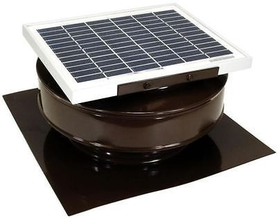 Solar Powered Exhaust Fan Roof Vent Attic Ventilator Mount Brown 365 Cfm Panel Solar Powered Attic Fan Roof Exhaust Fan Exhaust Fan
