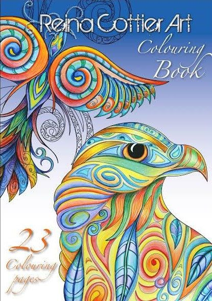Reina Cottier Art 23 Page Colouring Book Etsy In 2020 Coloring Books Art Journal Inspiration Art