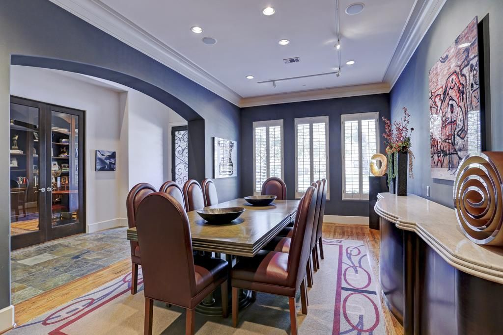 Alternate View Of The Elegant Formal Dining Room And Entry Large Windows