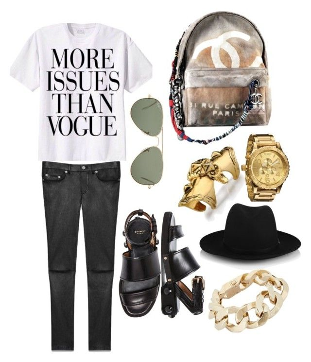 """""""Casual School Outfit"""" by michaeleverett ❤ liked on Polyvore featuring Yves Saint Laurent, Ray-Ban, Givenchy, Chanel, LowLuv, rag & bone and Nixon"""