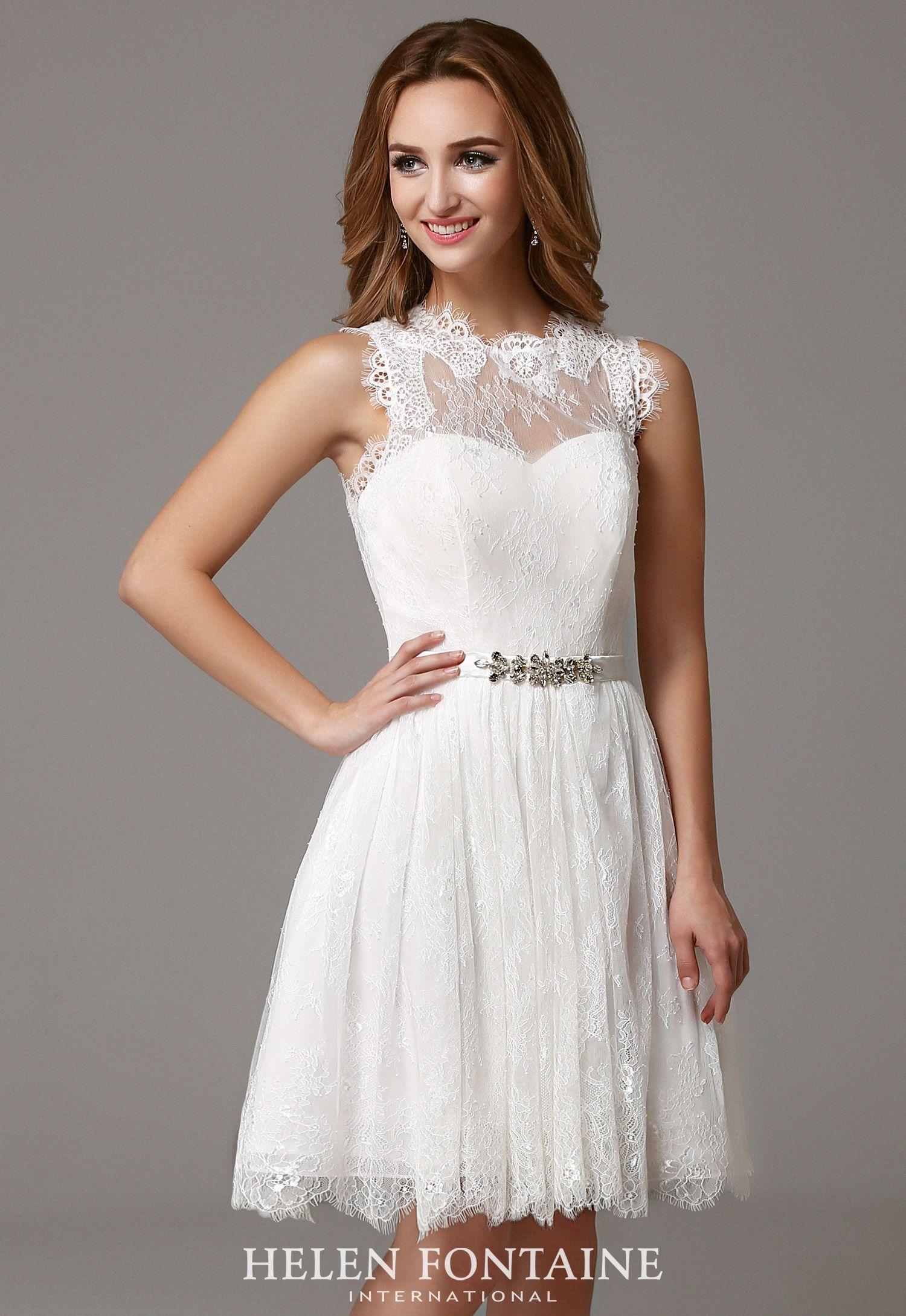 Short White Lace Bridesmaid Dresses A Line Knee Length Sleeveless Style Hfw2526 White Dresses Graduation Sparkly Bridesmaid Dress Bridesmaid Dresses Boho [ 2180 x 1500 Pixel ]