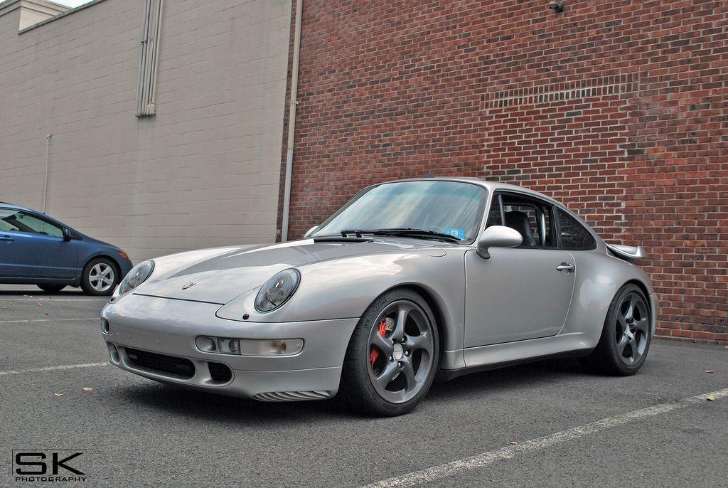 Hot Porsche 993 Turbo on gunmetal 996TT Twists. #everyday993 #Porsche