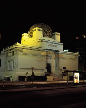 Secession at night - a must for those interested in the Viennese Secessionism art movement. Still a cutting edge thought in today's art.