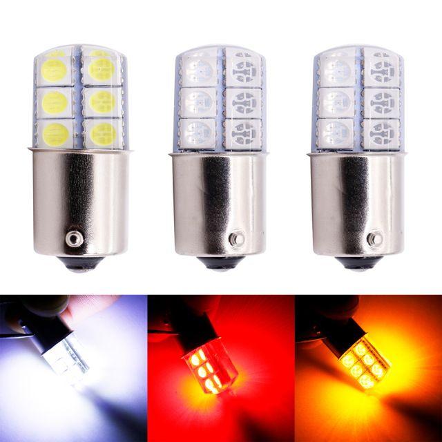 10x Red 1156 P21W Ba15s 13 5050 SMD LED Brake Tail Turn Signal Light Bulb Lamp