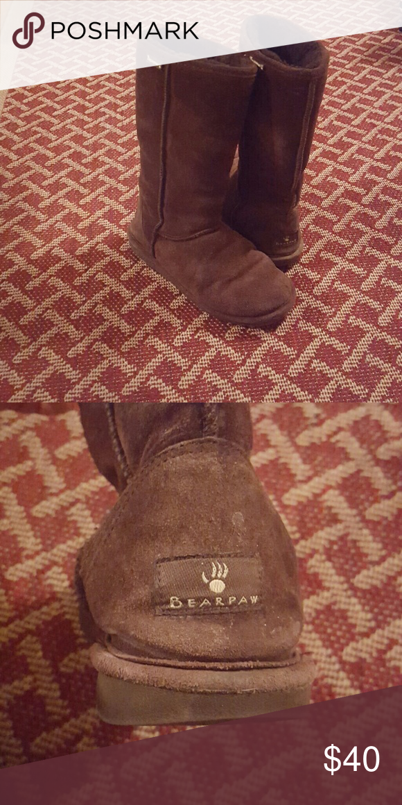 Bearpaw boots Brown bearpaw boots BearPaw Shoes Winter & Rain Boots