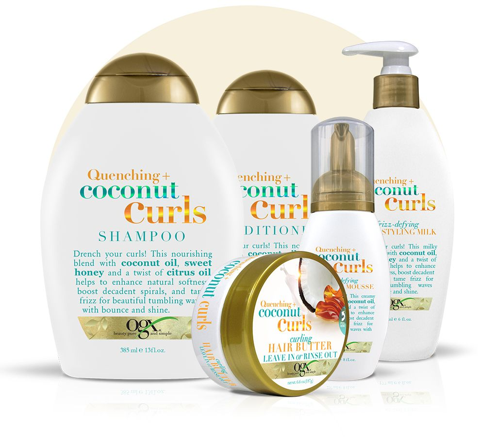 Review Ogx Quenching Coconut Curls Shampoo Conditioner And Frizz