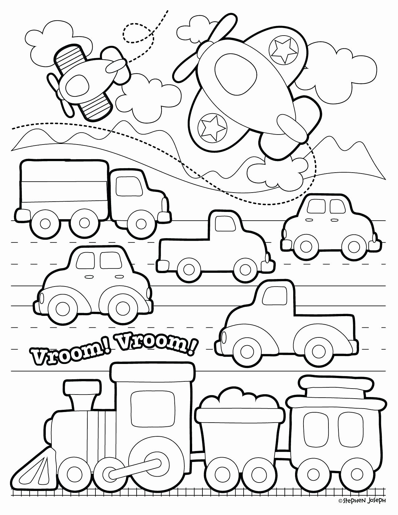 Transportation Coloring Pages For Toddlers Unique Land