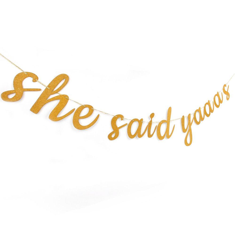 She said yaaas gold sparkly glitter banner bachelorette party gold sparkly she said yaaas banner glitter she said yes wedding decoration bridal shower hen bachelorette junglespirit Images