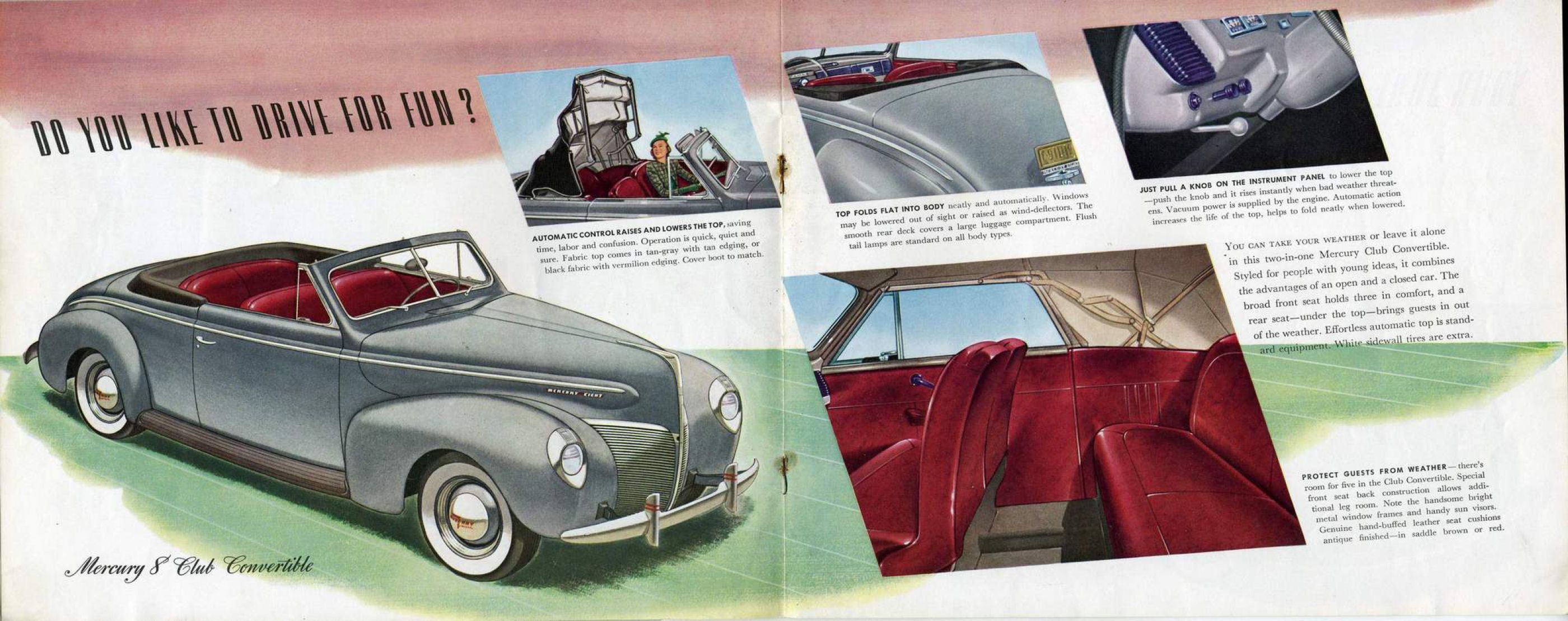 1940 Mercury Brochure pages 9 & 10 | Advertising | Pinterest ...