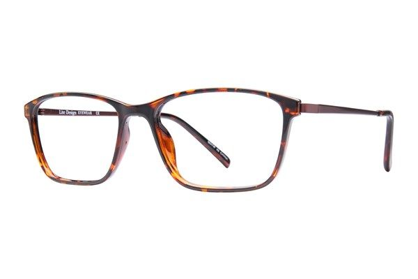 0dea982e9 These tortoiseshell Lite Design eyeglasses with thin titanium memory-metal  temples and spring hinges are light as a feather and look like a million  bucks.