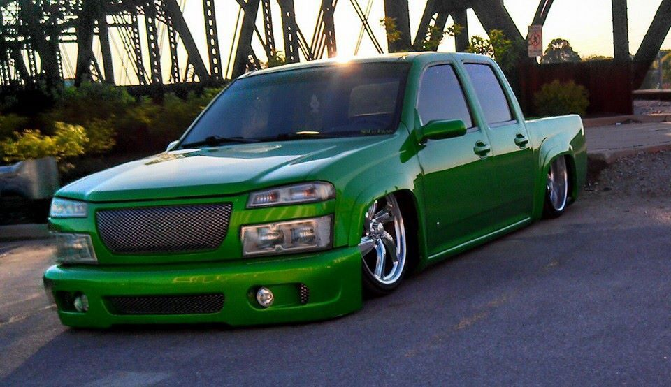 Bagged Chevy Colorado Bodied Laying Frame S 10 Colorado