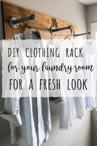 DIY clothing rack for your laundry room! | Wilshire Collections #industrialfarmhouse