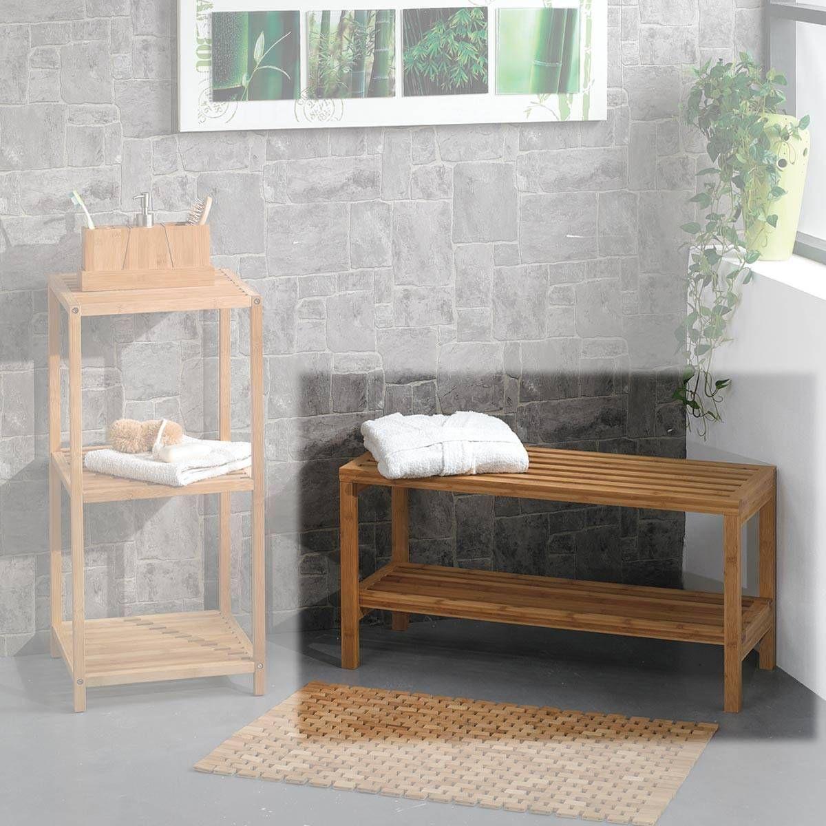 Banc Bambou 2 Niveaux | shopping appart | Meuble salle de bain pas ...
