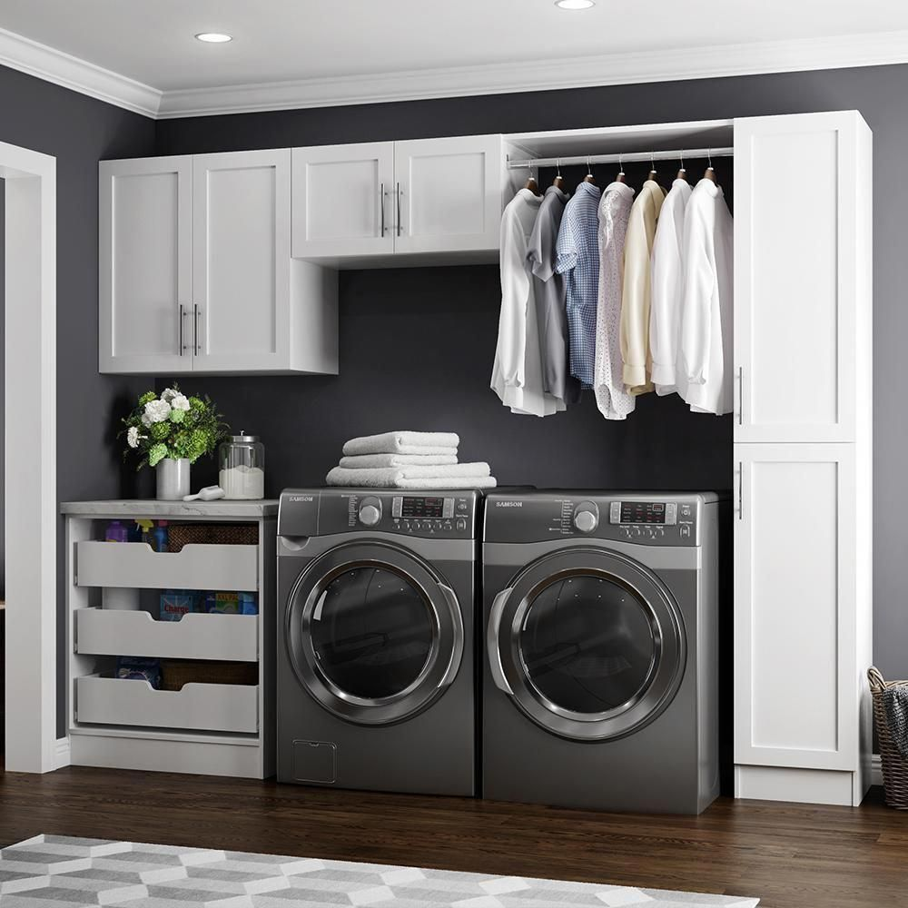 Madison 105 In W White Laundry Cabinet Kit