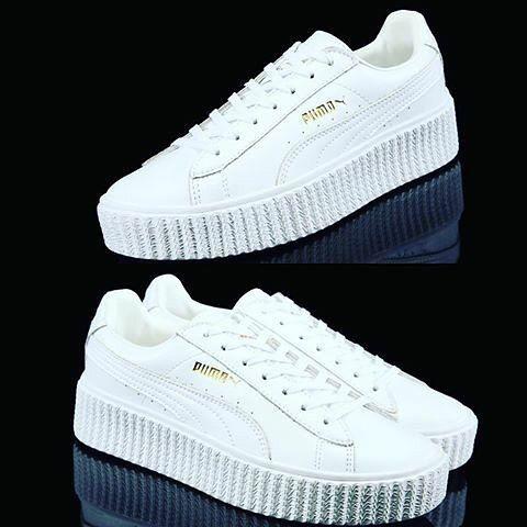 puma creepers all white