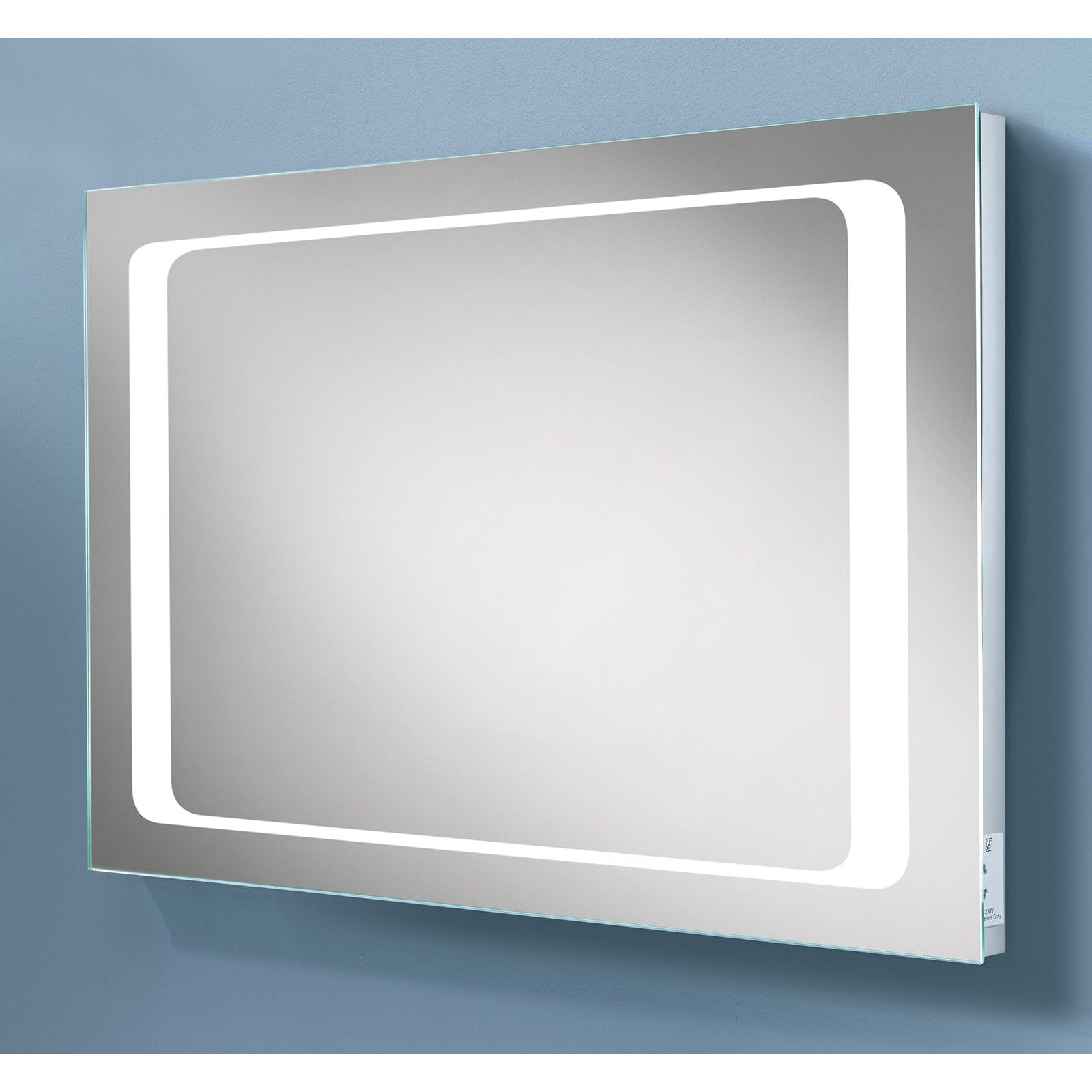 HiB Axis LED Illuminated Mirror With Sensor & Demister & Shaver ...