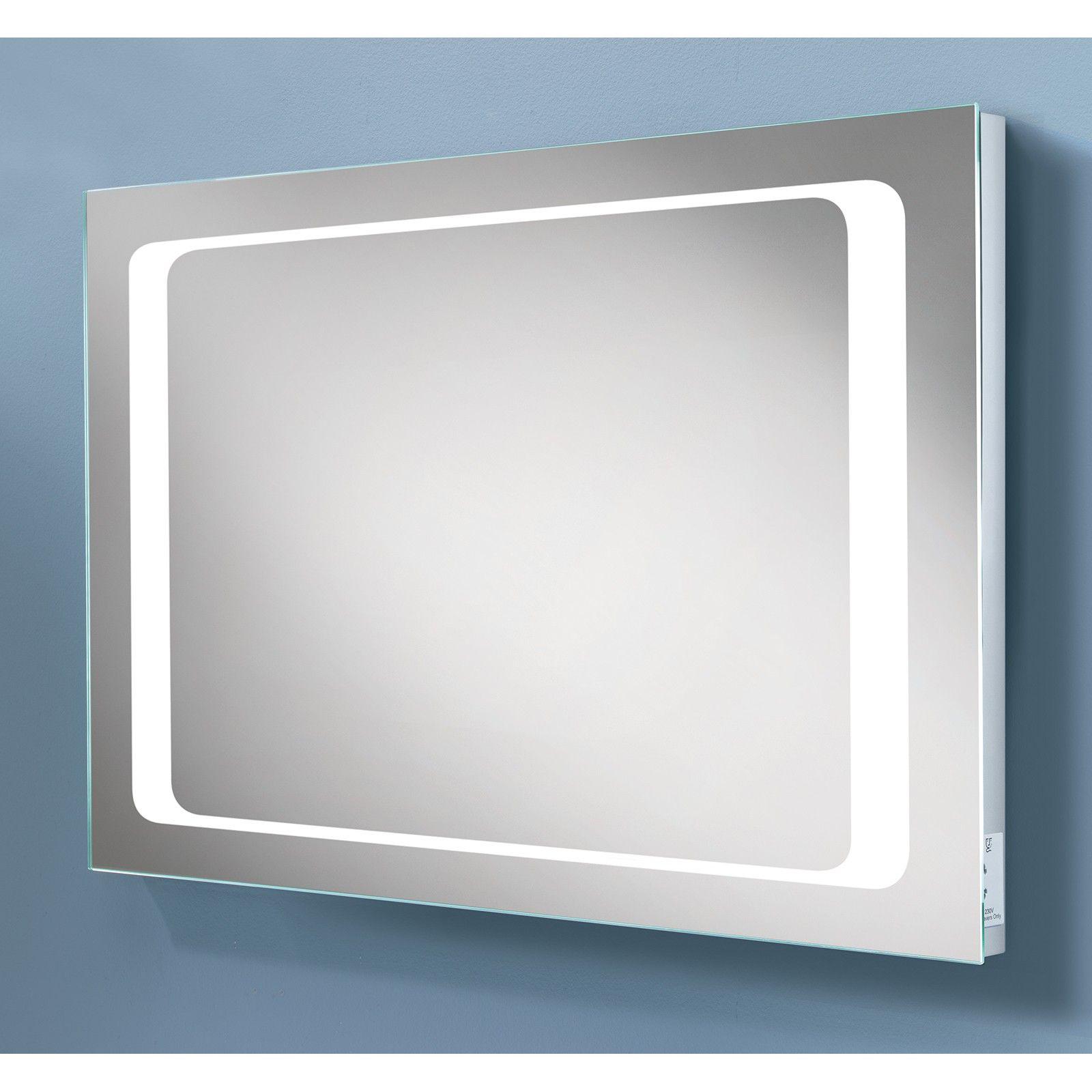HiB Axis LED Illuminated Mirror With Sensor & Demister & Shaver ...