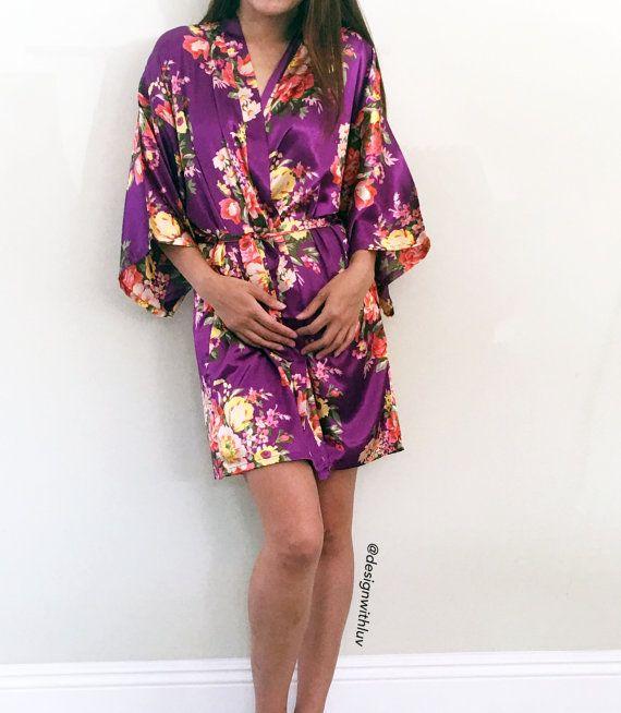 Floral Satin Maternity robe, hospital robe, nursing robe, maternity ...