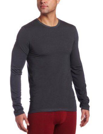 Calvin Klein Men's Micro Modal L/S Crew Pajama Top - XL - Mink or Black