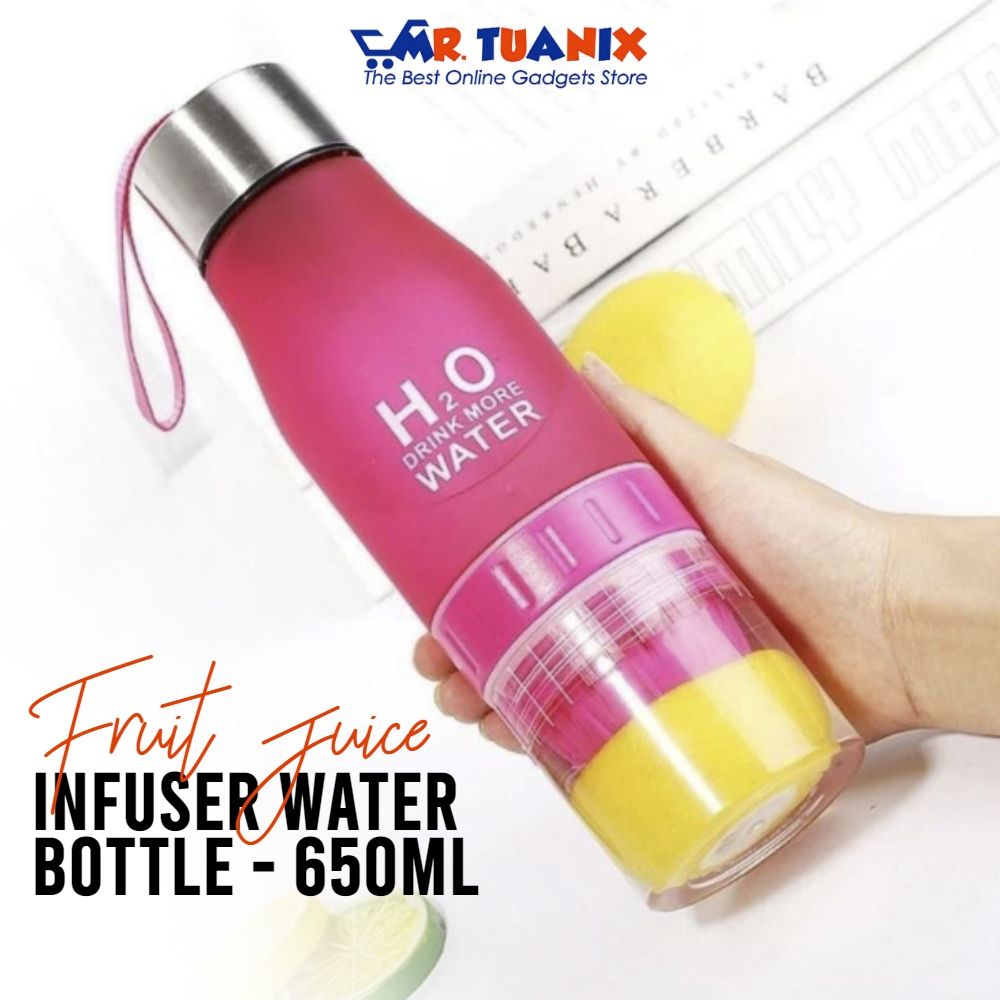 Fruit Juice Infuser Water Bottle 650ml Rejuvenate Your Energy