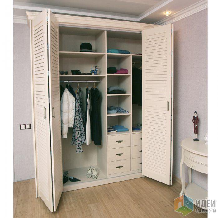 Картинки по запросу шкаф с жалюзийными дверцами | Спальня ... Дизайн Спальни С Угловой Гардеробной